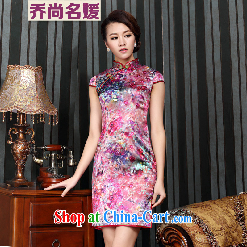 Silk Dresses summer improved quality wedding dress C 14 - 6009�red XXL (2 feet 3 back)