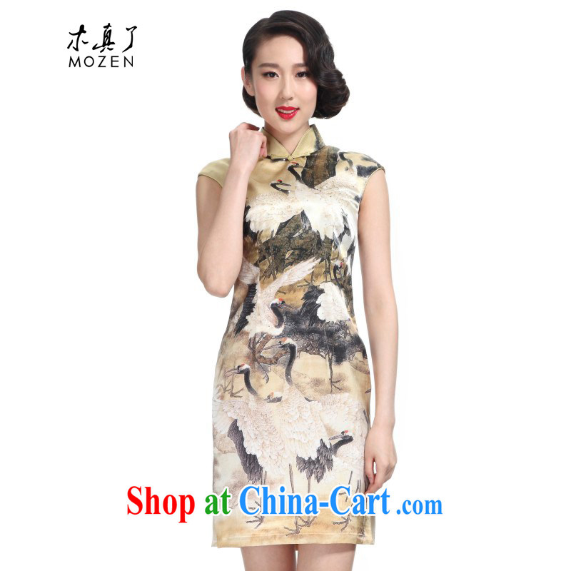 Wood is really the 2015 spring new Silk Cheongsam dress original China wind poster short dresses 11,435 12 Wong the Hak XXL