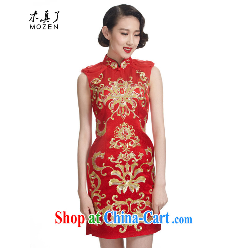 Wood is really the 2015 spring and summer new chinese red wedding dress style bridal dresses the wedding toast serving 32,433 04 deep red XL