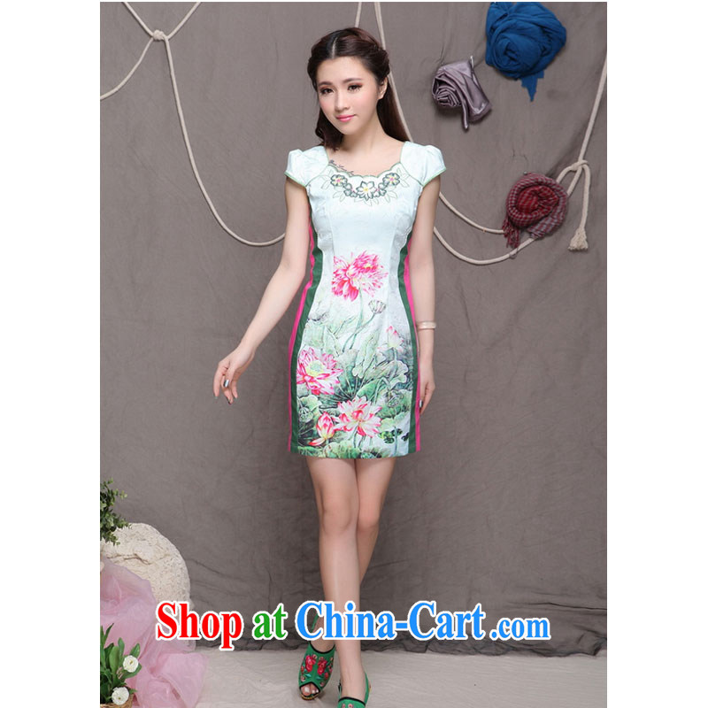 The end is very stylish and China National wind female fine improved cheongsam dress elegance H 9909