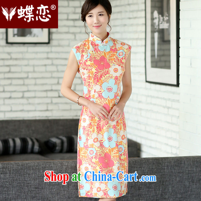 Butterfly Lovers 2015 spring new female national improved fashion cheongsam dress everyday, qipao 45,011 blooming XXL