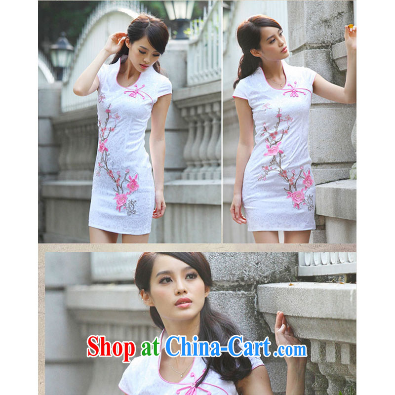 Shallow end BH summer 6916 new cheongsam dress summer improved cheongsam Chinese elegant and modern-day outfit pink