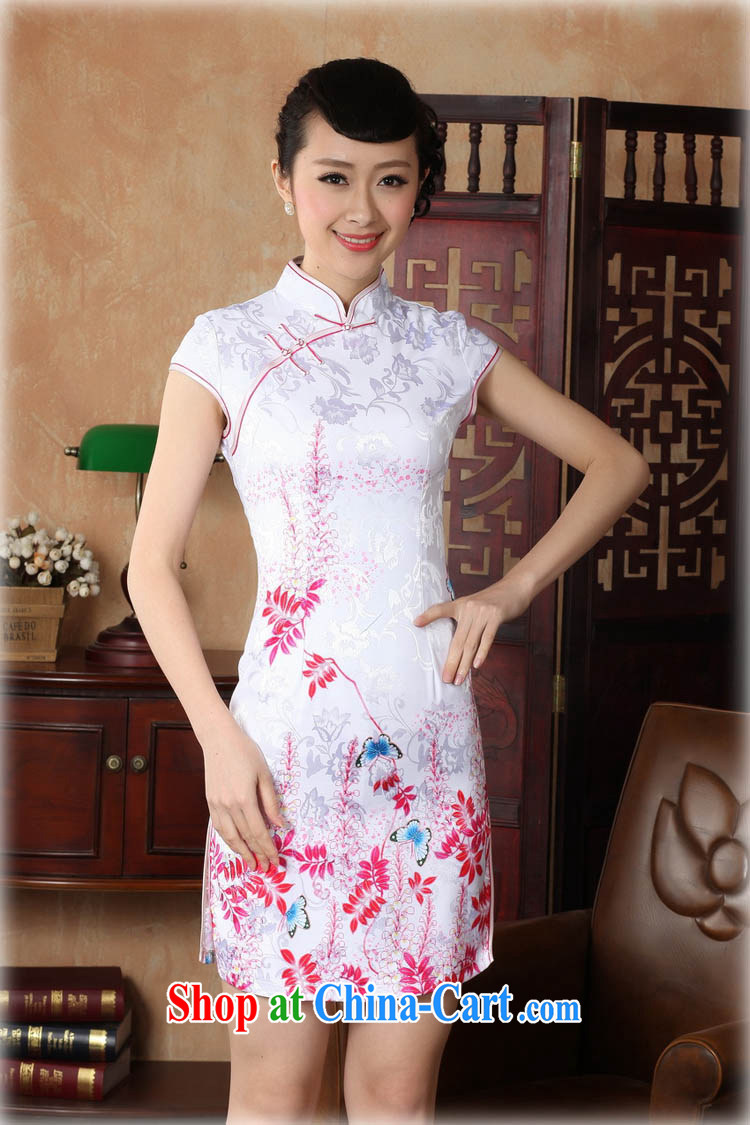 Ko Yo vines into colorful 2015 summer new retro short-sleeved improved stylish jacquard cotton-tie cheongsam dress Chinese Dress ethnic wind short cheongsam dress D 0222 light blue 175/2 XL pictures, price, brand platters! Elections are good character, the national distribution, so why buy now enjoy more preferential! Health