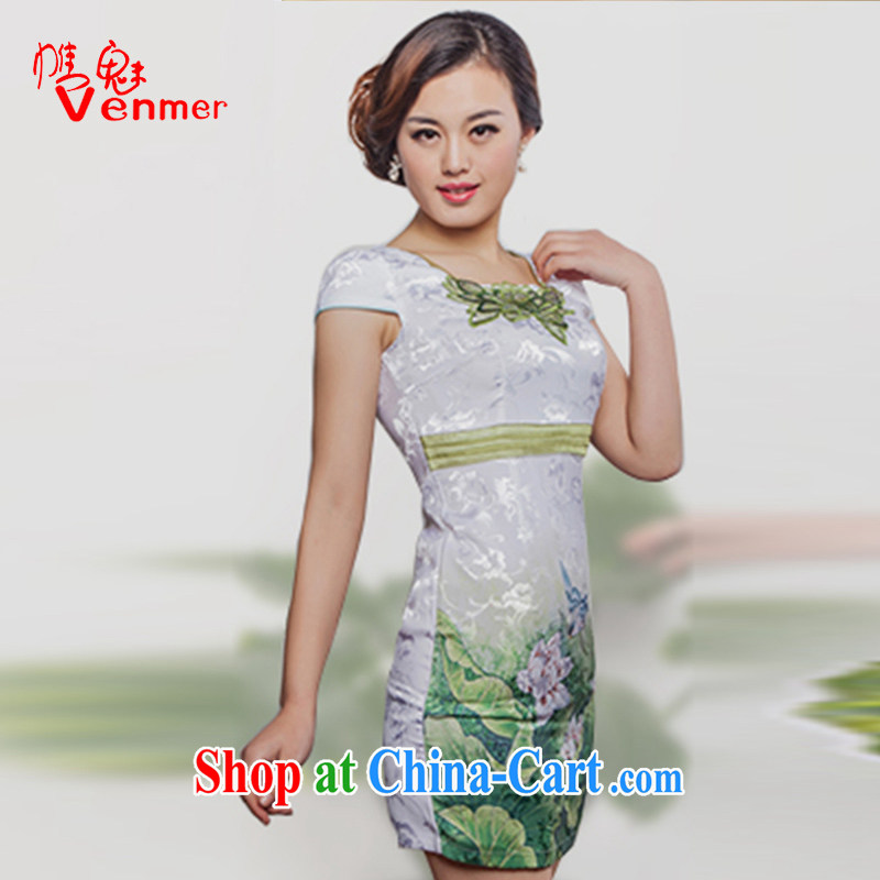 Clearly, Venmer new summer stylish and elegant refined beauty outfit _8020 green XL