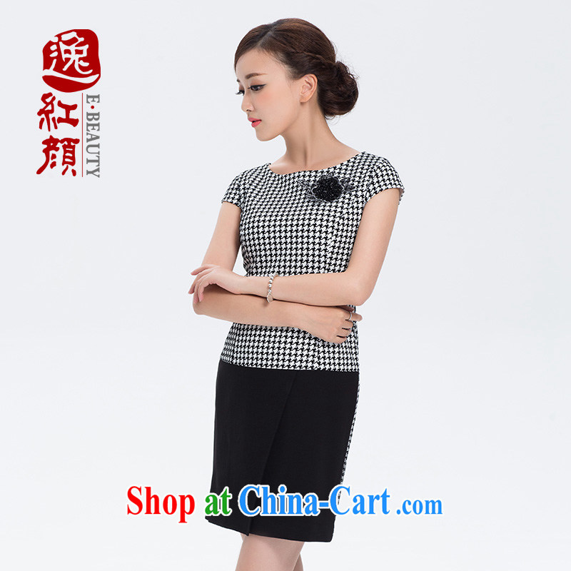 The proverbial hero once and for all -- dresses summer new cheongsam dress stylish short 1000 birds, improved stylish dresses female white 2 XL
