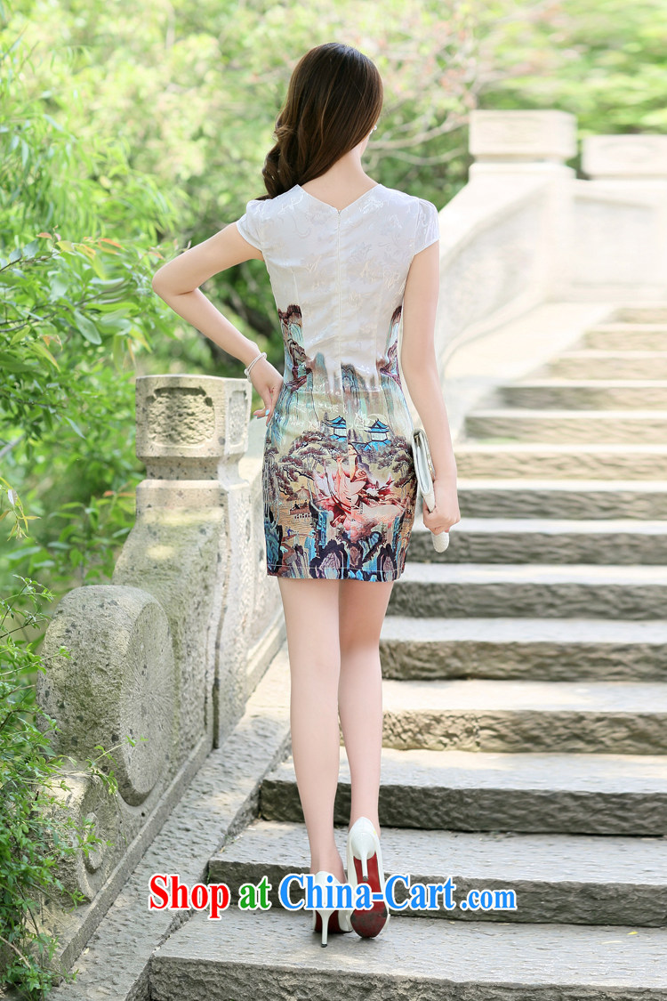Kam-world, Yue water drilling, wavy edge Korean antique Chinese wind mountain paintings ethnic wind beautiful lady flute music stamp cheongsam improved daily dress dress dress gold beauty figure XXL pictures, price, brand platters! Elections are good character, the national distribution, so why buy now enjoy more preferential! Health