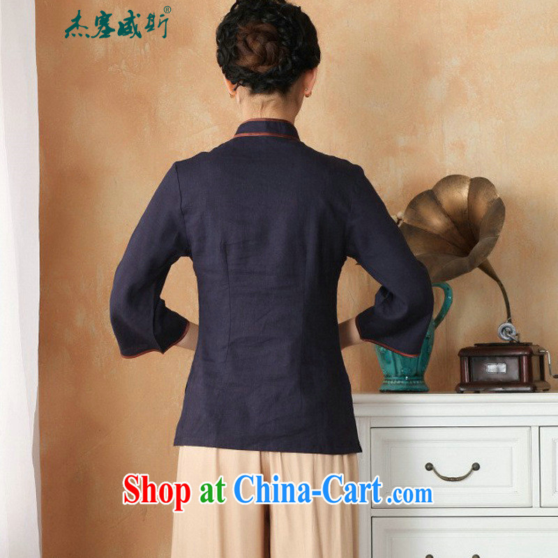 Jessup, new, improved, for cotton the larger Chinese female Han-Chinese, summer shirt M 2382 - 4 color XXXL, Jessup, and shopping on the Internet
