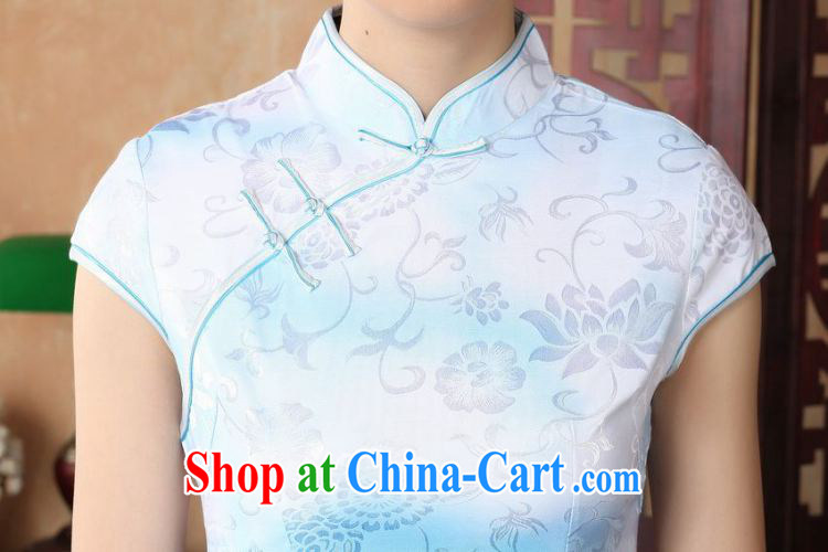 Shanghai, optimize purchase dresses summer improved retro dresses, for a tight cotton stamp Chinese improved cheongsam dress short D 022-A white 2XL recommendations 120 - 130 Jack pictures, price, brand platters! Elections are good character, the national distribution, so why buy now enjoy more preferential! Health