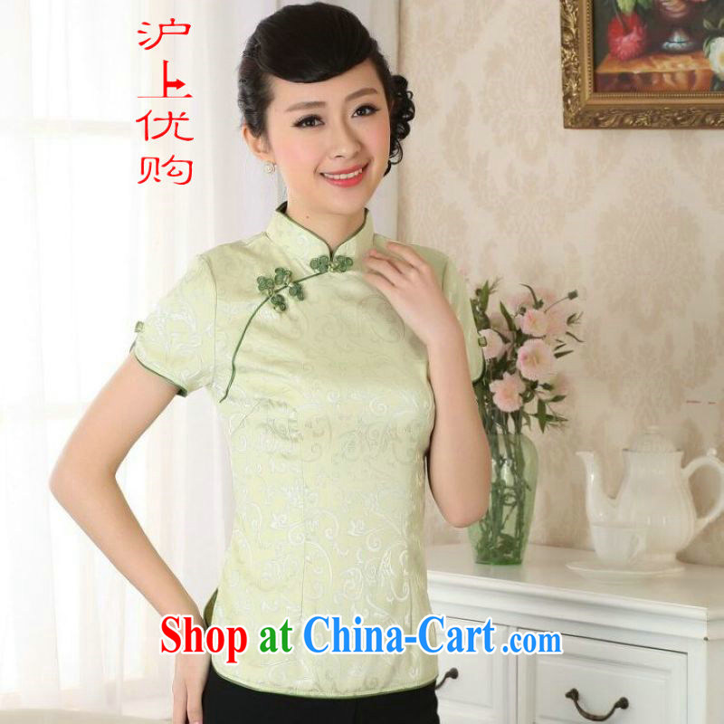 Shanghai, optimize purchase female Tang Women's clothes summer T-shirt ethnic-Chinese Han-female improved A 0052 - A - A green 3 XL