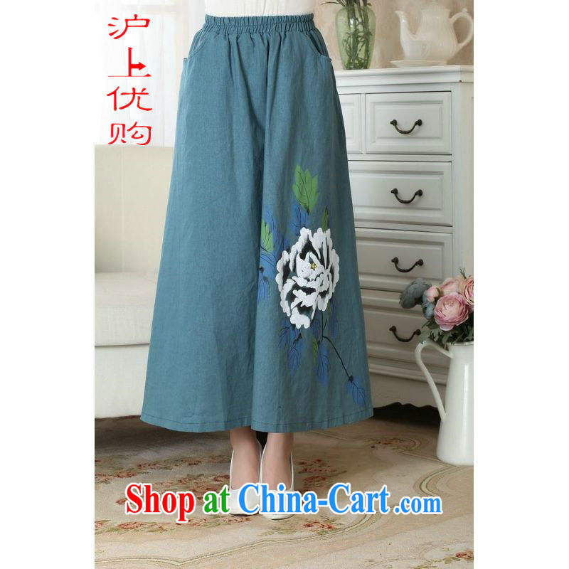 Shanghai, optimize purchase female body skirt summer China wind retro-bag elastic waist large female skirt P 0010 photo color M