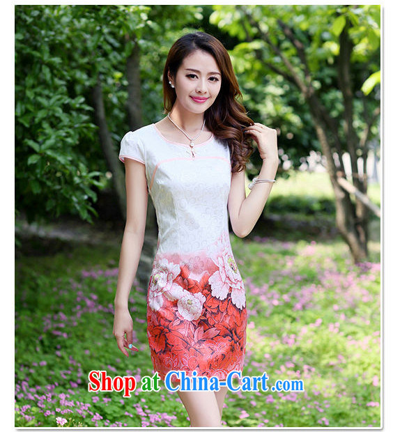 The beautiful valley 2015 new summer style etiquette qipao flouncing peony flower pattern short sleeve 100A cheongsam dress summer 8881 pink L pictures, price, brand platters! Elections are good character, the national distribution, so why buy now enjoy more preferential! Health