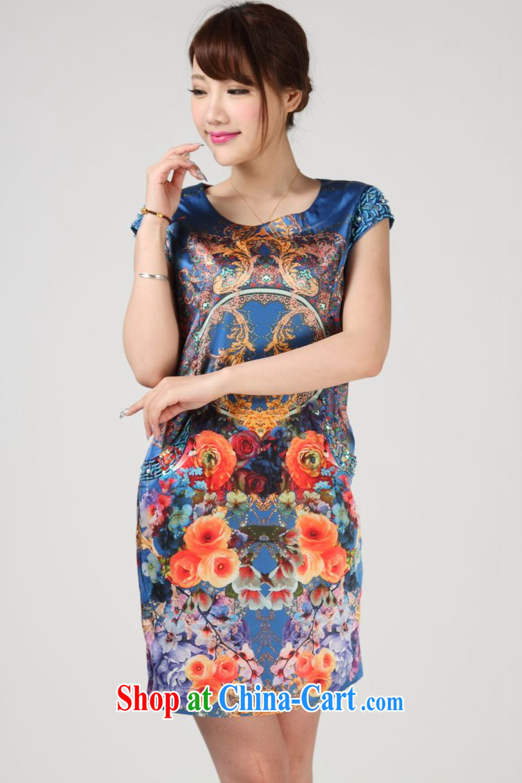 Forest narcissus summer 2014, relaxed the code sauna silk round-collar short-sleeved Silk Dresses S 7 - 860 orange XXL pictures, price, brand platters! Elections are good character, the national distribution, so why buy now enjoy more preferential! Health