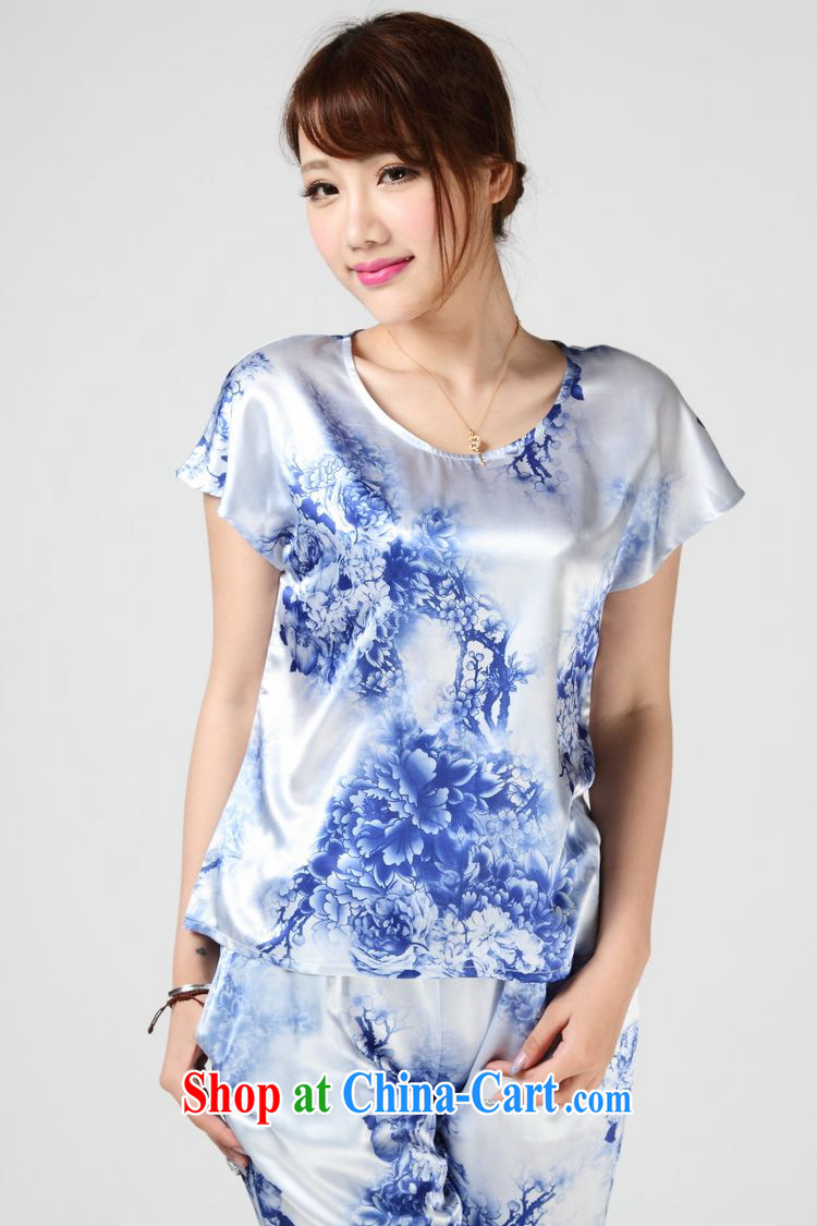 Forest narcissus summer 2014, special offers true silk T shirt blue and white porcelain stamp Chinese T-shirt S 7 - 862 blue and white porcelain XXL pictures, price, brand platters! Elections are good character, the national distribution, so why buy now enjoy more preferential! Health
