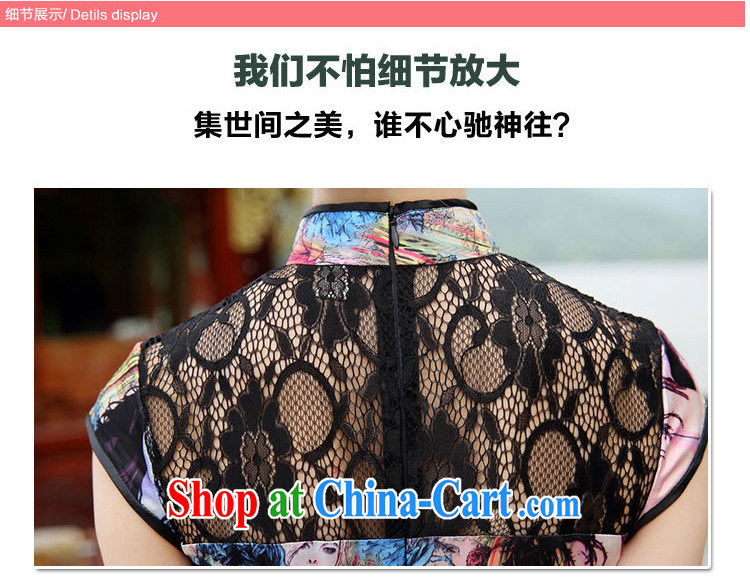 The Concubine Shu Diane 2014 NEW classic Chinese style Chinese, for manual for painting dress dresses cheongsam dress gray butterfly XL pictures, price, brand platters! Elections are good character, the national distribution, so why buy now enjoy more preferential! Health