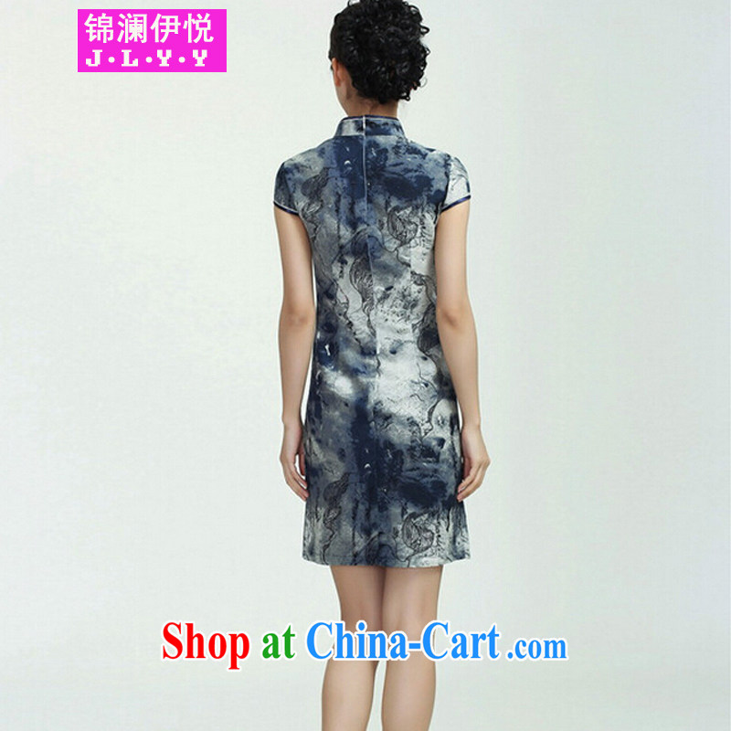 Kam-world the Hyatt summer new, female retro China wind dark dresses video thin beauty improved daily dress costumes retro van Sau San arts flag water the sunken Yan XXL, Kam-world, Yue, and shopping on the Internet