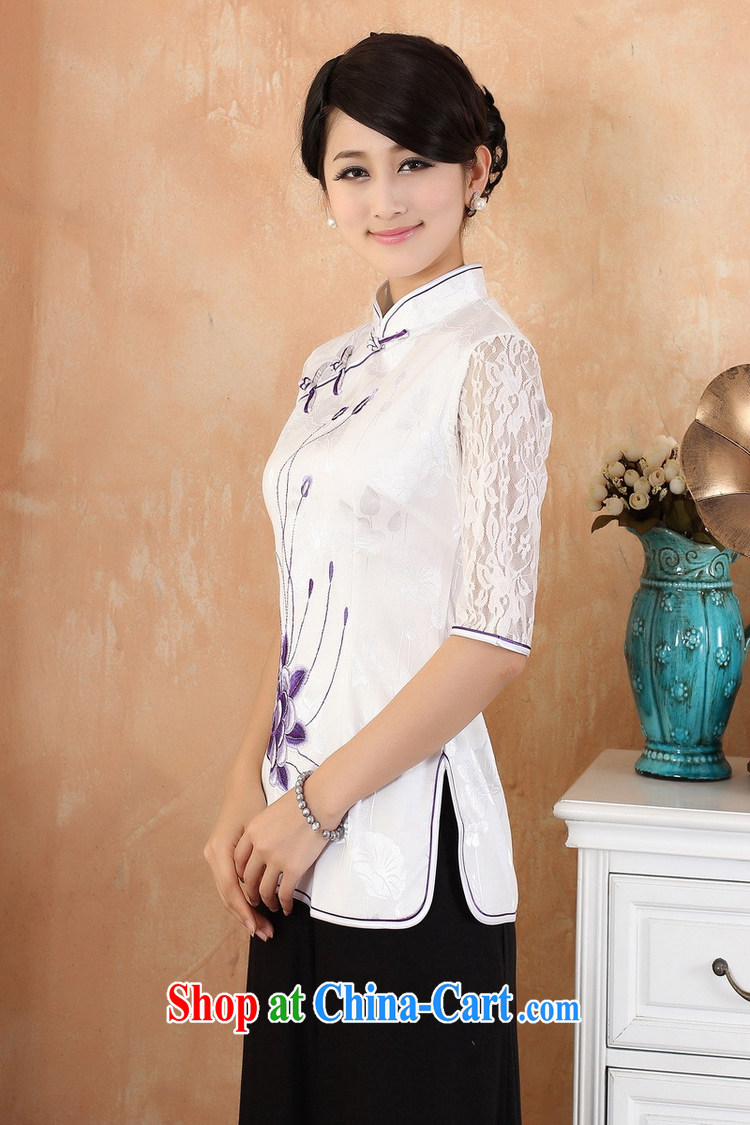 Kam-world the Hyatt summer new, female lady sweet taste of antique Chinese wind flouncing embroidery flowers improved cheongsam shirt retro van cheongsam shirt pink 3 XL pictures, price, brand platters! Elections are good character, the national distribution, so why buy now enjoy more preferential! Health