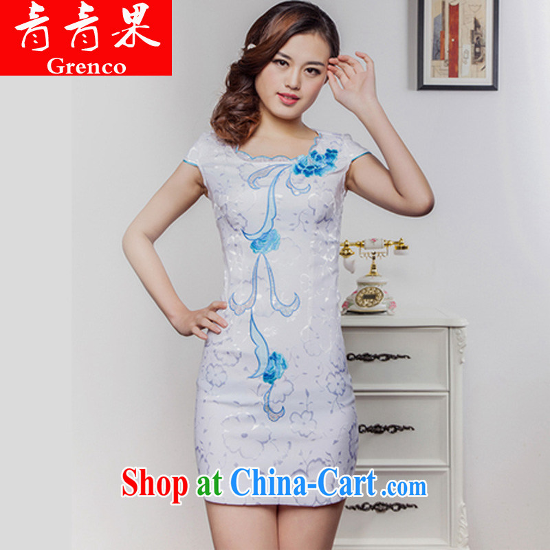 2014 new summer with stylish and elegant beauty improved cheongsam pink XL