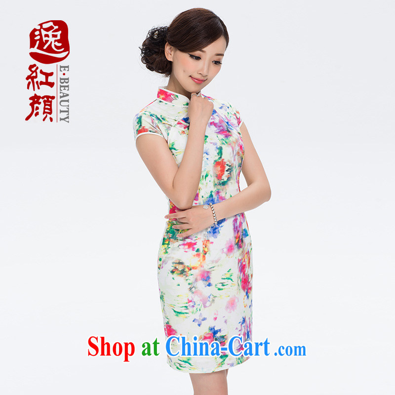 once and for all and without wind power plants snow cloud woven retro new cheongsam dress 2014 summer cheongsam dress improved daily fashion Suit M