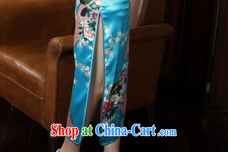 Floor is still building female new summer, Ms. long, stamp duty for Chinese improved the code cheongsam Chinese female Lake blue XL/38 pictures, price, brand platters! Elections are good character, the national distribution, so why buy now enjoy more preferential! Health