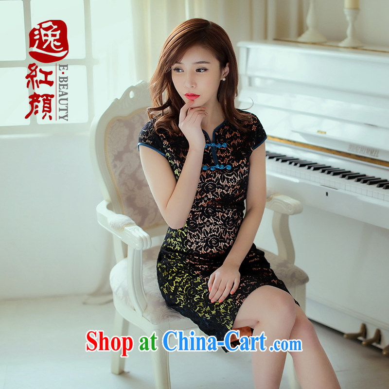 once and for all and fatally jealous core China lace retro style dresses China wind 2014 summer new female ethnic wind suit L