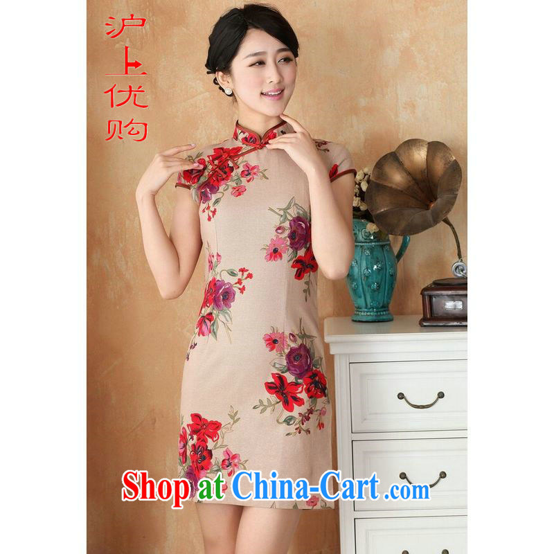 Shanghai, optimize purchase 2014 summer new Chinese improved Chinese qipao hand painted dresses show apparel clothing 2391 - 3 card the color 2 XL recommendations 120 - 130 jack
