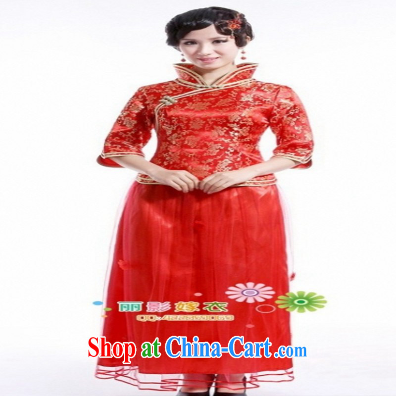 Chinese Antique improved small Fengxian 7 cuff cheongsam dress 2014 new bride toast serving 58,007 red customer service to size up to do not support replacement