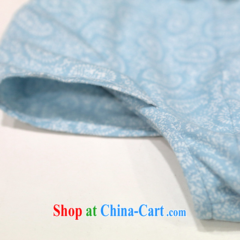 proverbial hero once and for all from a retro new cheongsam dress summer dress outfit improved daily stylish blue XL, fatally jealous once and for all, and, on-line shopping