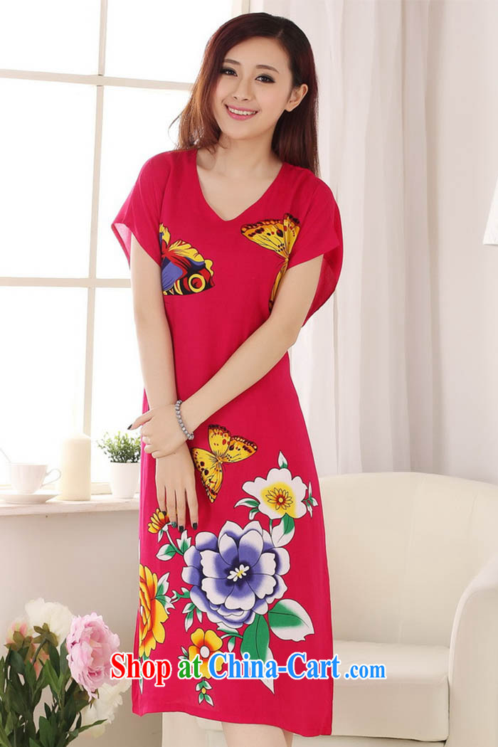 Capital city sprawl 2015 spring and summer new, cotton fashion round collar relaxed and comfortable Butterfly The stylish lounge S 0117 red are code pictures, price, brand platters! Elections are good character, the national distribution, so why buy now enjoy more preferential! Health