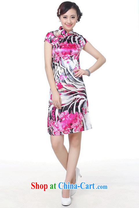 Shanghai, optimize purchase dresses summer improved retro dresses, for a tight silk hand-painted Chinese improved cheongsam dress short white 2XL recommendations 120 - 130 Jack pictures, price, brand platters! Elections are good character, the national distribution, so why buy now enjoy more preferential! Health