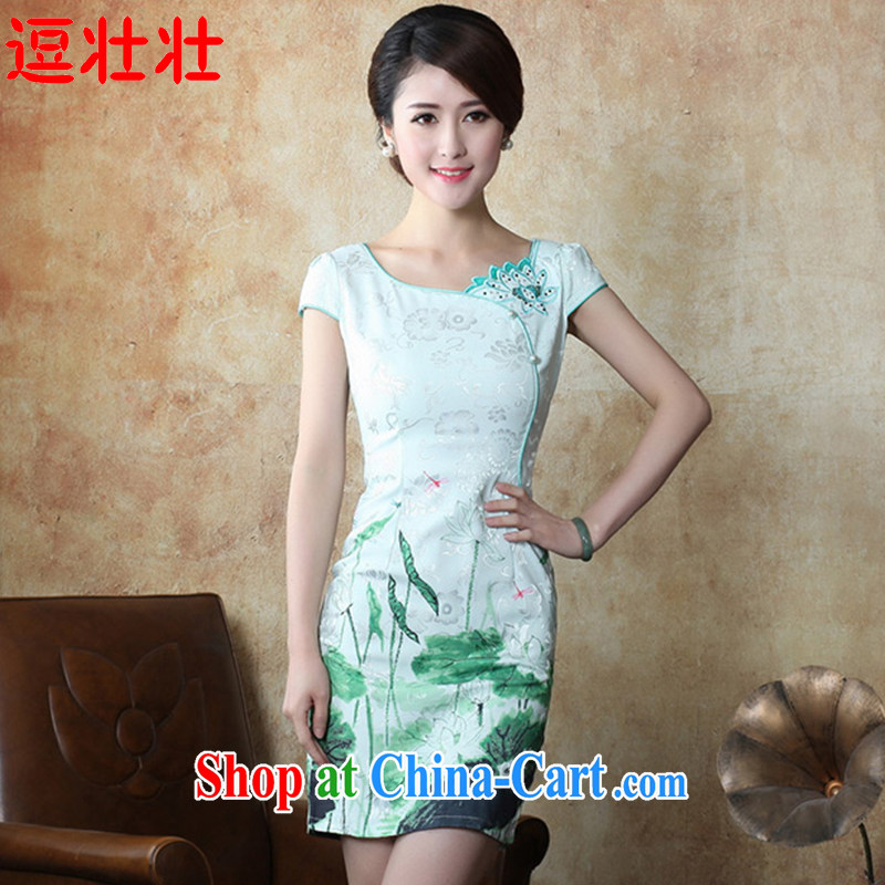 and Chuang Chuang 2015 summer fashion improved retro beauty outfit _6073 I should be grateful if you would have rain - green is a small code M