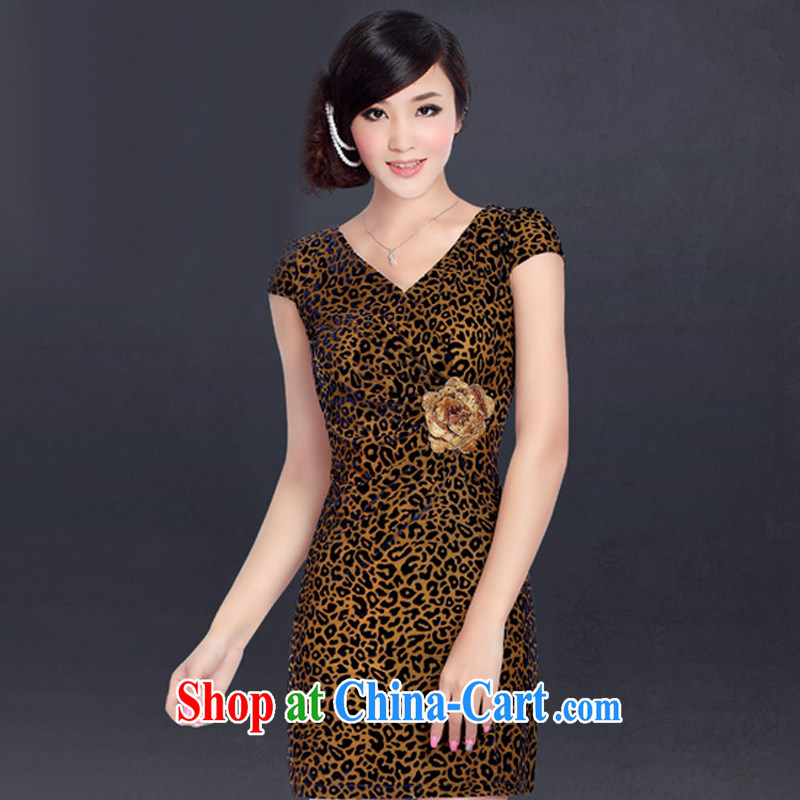 And, in accordance with a cool wool beauty antique cheongsam dress improved stylish embroidered Leopard stretch sexy outfit LYE summer 1349 Leopard L