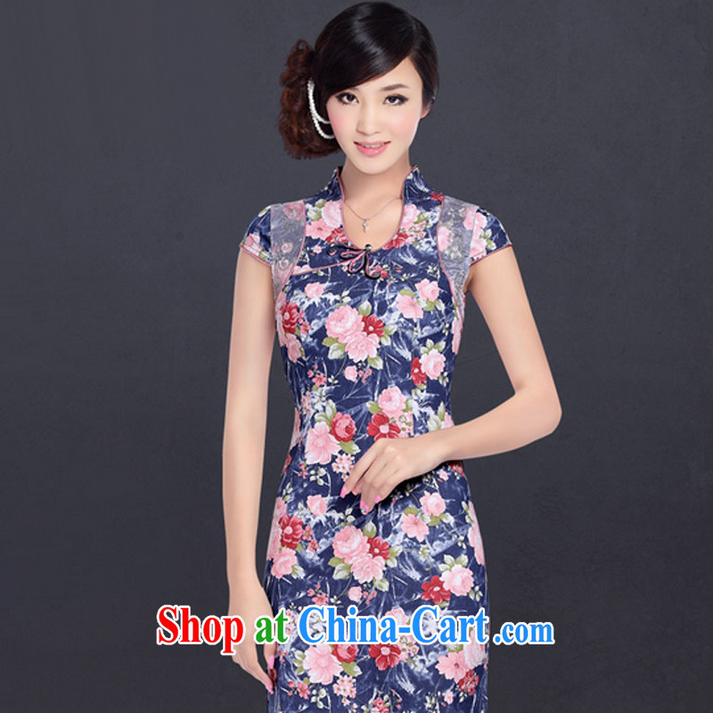 And, in accordance with improved stylish summer dresses skirts girls retro daily embroidered denim stretch dresses LYE 1316 blue XXL