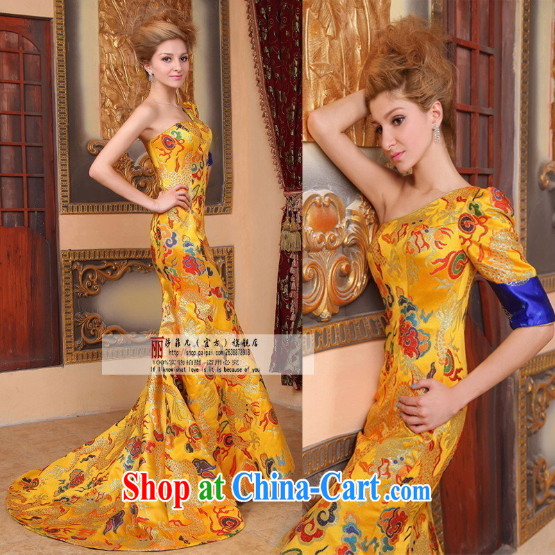 All-star game, with Fan Bing Bing, robes of the Dragon bride toast wedding dresses Evening Dress wedding performances and serving the customer service for this size will do not support RMA