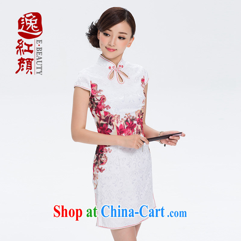 once and for all the proverbial hero infected with retro cheongsam dress summer dresses, skirts improved daily fashion beauty short white 2XL