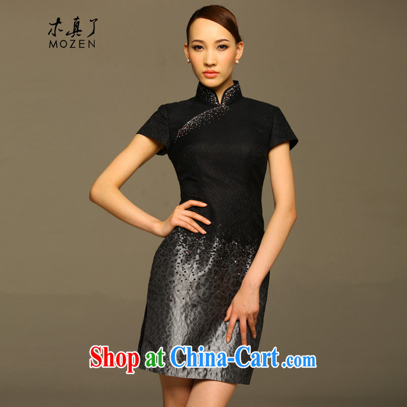 Wood is really the 2015 spring and summer new dresses new improved cheongsam dress gradient beauty dresses dresses 11,551 07 light gray XXXL