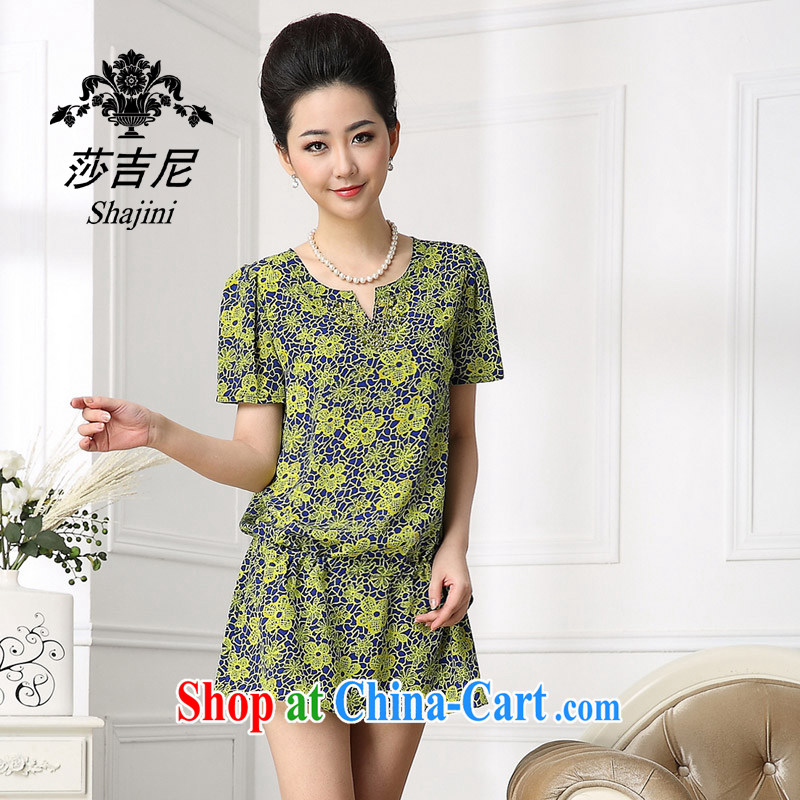 Windsor, 2014, summer wear new, upscale big silk dresses the big code sauna silk damask skirt green XXL