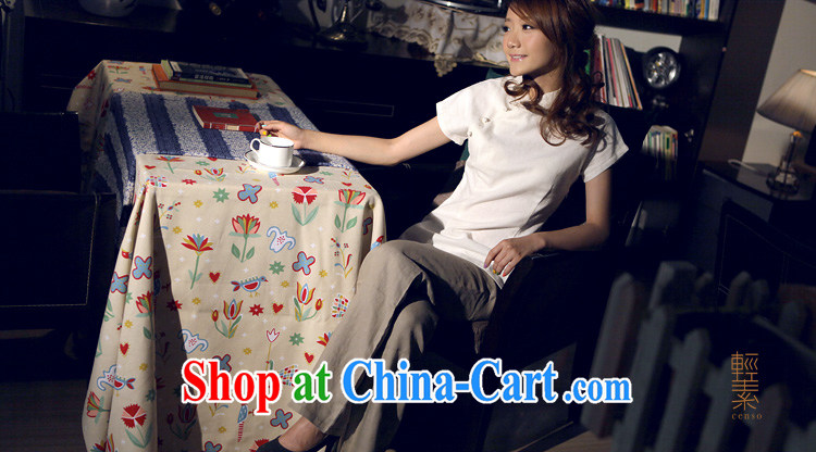 Light of Yau Ma Tei cotton clothes-for Chinese T-shirt retro improved Chinese, ethnic wind warm white robes T-shirt XXL pictures, price, brand platters! Elections are good character, the national distribution, so why buy now enjoy more preferential! Health