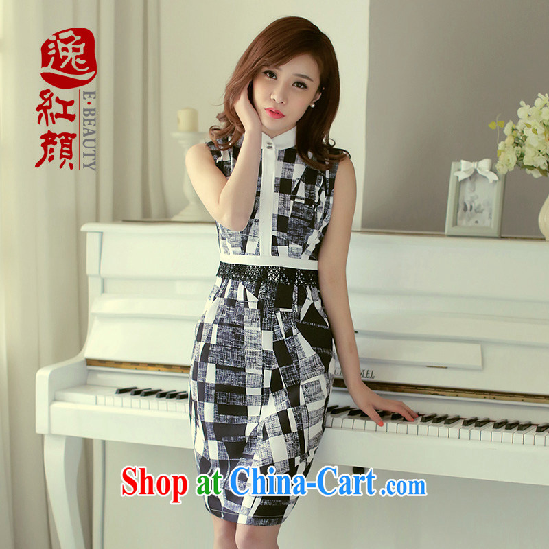 The proverbial hero once and for all and as soon as possible the snow-woven dresses spring new China wind summer dress for the summer black 2XL