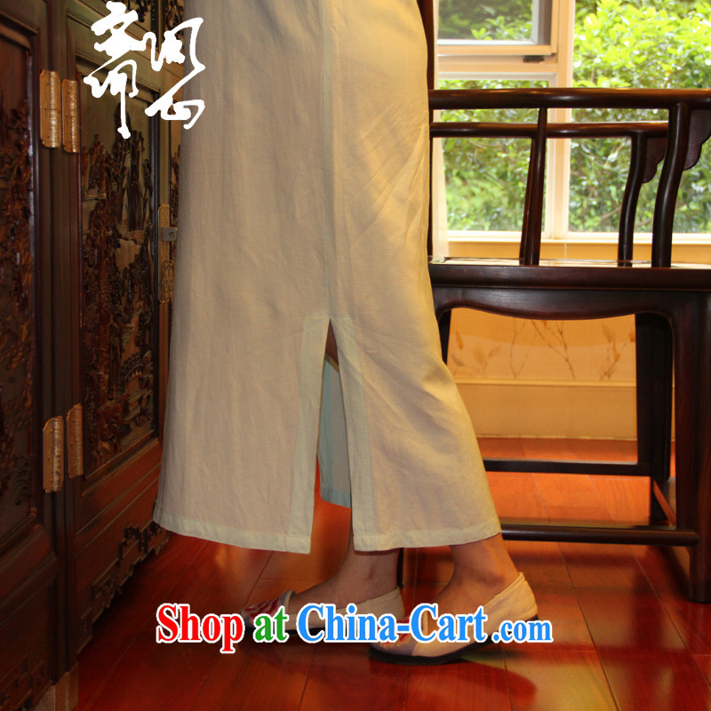 Ask a vegetarian autumn new pixel color series Chinese wind improved dressing gown skirt qipao gown linen WXZ 16 light mint green is code manually. Take the next 15 days, the wing, and shopping on the Internet