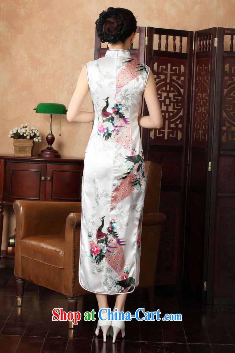 Take the 2014 summer new female cheongsam Chinese improved, for damask hand-painted Chinese Antique Peacock long cheongsam J 146 5115 2 XL pictures, price, brand platters! Elections are good character, the national distribution, so why buy now enjoy more preferential! Health