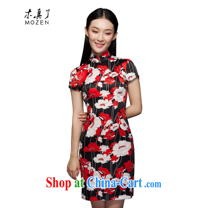 Wood is a qipao 2015 spring and summer new stylish dresses cultivating improved cheongsam dress Chinese dresses 42,952 04 deep red XXXL