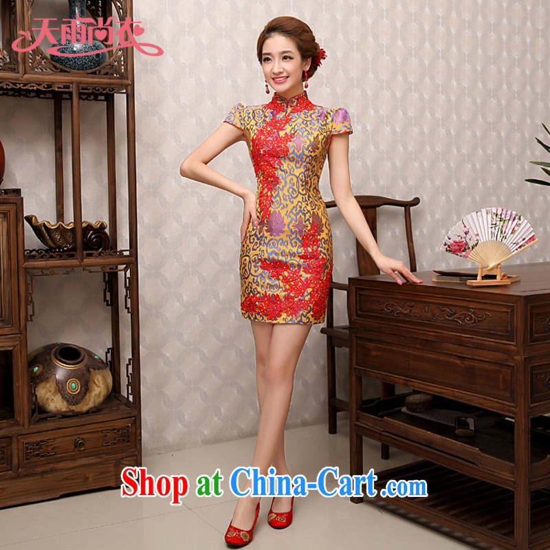 Rain is still Yi 2015 new wedding dresses summer dresses cashmere married mothers with improved cultivation bridal toast QP serving 480 photo color XL