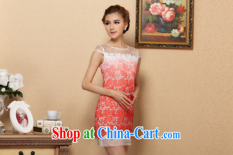 Jessup, new stylish classic improved water-soluble gradient lace cheongsam dress, collar XL pictures, price, brand platters! Elections are good character, the national distribution, so why buy now enjoy more preferential! Health