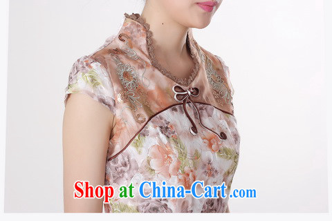 Jing An outfit summer improved retro dresses, for pure cotton stamp Chinese improved cheongsam dress short brown 0213 2 XL (120 - 130 ) jack pictures, price, brand platters! Elections are good character, the national distribution, so why buy now enjoy more preferential! Health