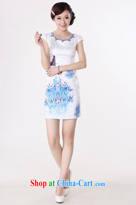 Shanghai, optimize purchase dresses summer improved retro dresses with pure cotton hand-painted Chinese improved cheongsam dress short white S recommendations 85 - 95 Jack pictures, price, brand platters! Elections are good character, the national distribution, so why buy now enjoy more preferential! Health
