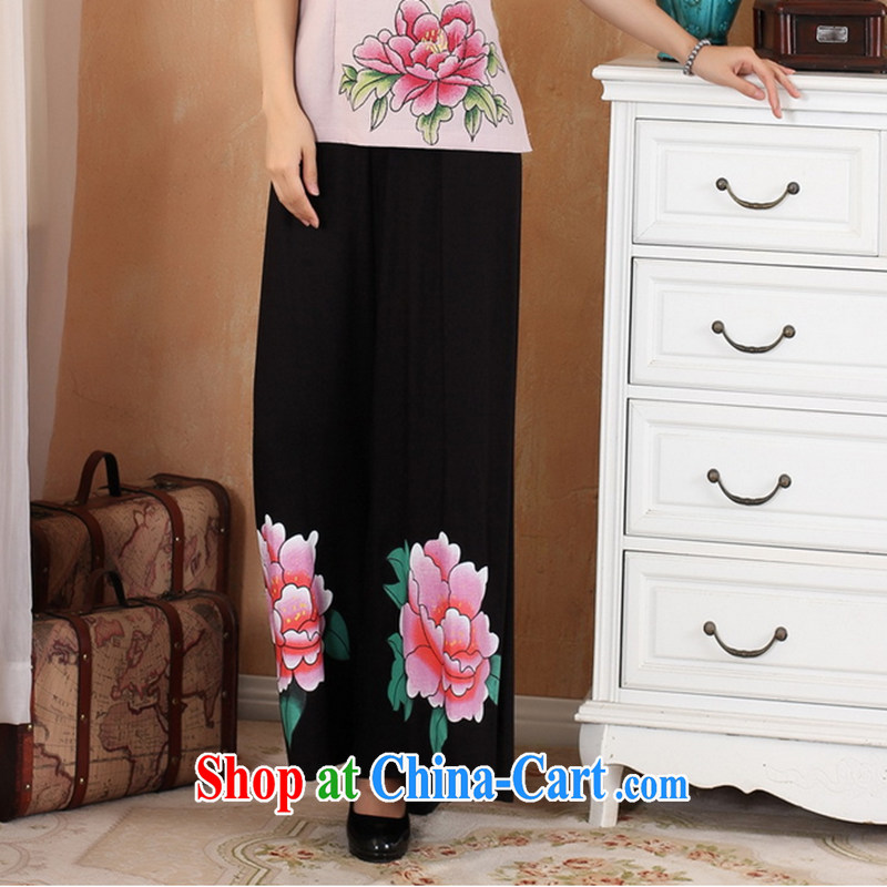 Take the 2014 new Stylish retro stamp duty trousers show apparel clothing horn dress pants Chinese WNS 2369 - 4 black 2 XL