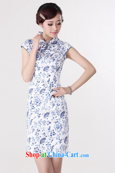 Shanghai, optimize purchase dresses summer improved retro dresses, for a tight cotton stamp Chinese improved cheongsam dress short black Orchid 2 XL recommendations 120 - 130 Jack pictures, price, brand platters! Elections are good character, the national distribution, so why buy now enjoy more preferential! Health