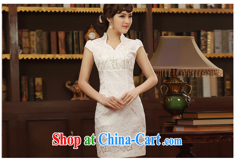 robes women 2014 Summer Fall dresses, daily embroidery improved dresses short stylish retro dresses white XXL pictures, price, brand platters! Elections are good character, the national distribution, so why buy now enjoy more preferential! Health