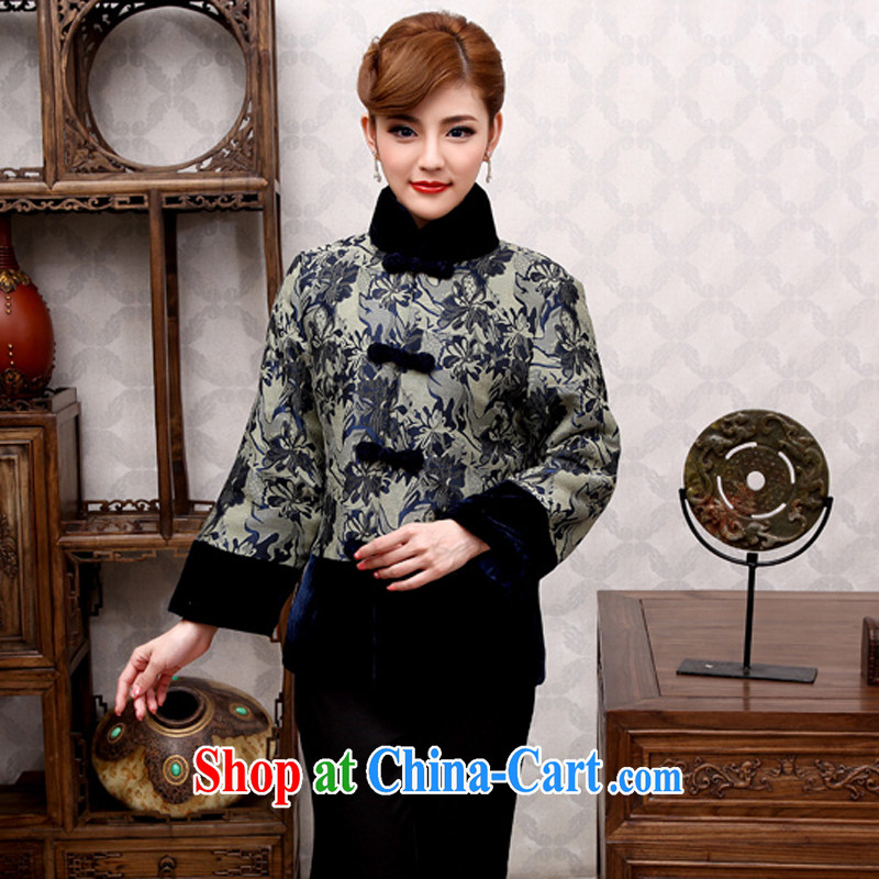 Dresses 2014 new Chinese, winter clothes and elegant mother Chinese improved long-sleeved sweater, winter coats, Ms. Tibet Tsing 2 XL