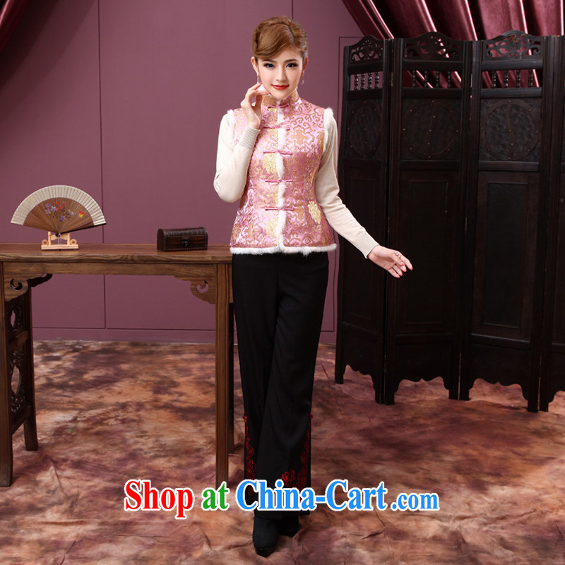 Dresses 2014 winter improved stylish wedding toast Ms. serving short cheongsam shirt A X 632 pink 2 XL